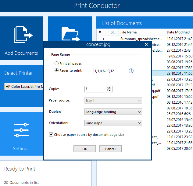 Batch Print Multiple PDF, Text and Image Files - Print Conductor