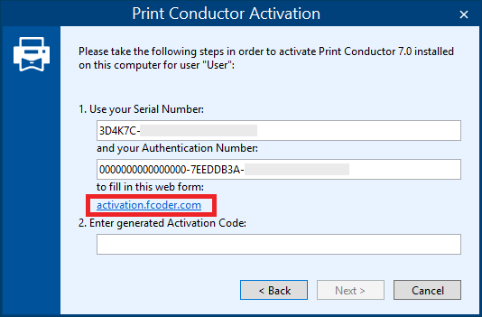 Activate Print Conductor using the webform