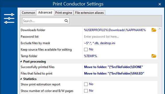 Automatically move files to the original folder after printing