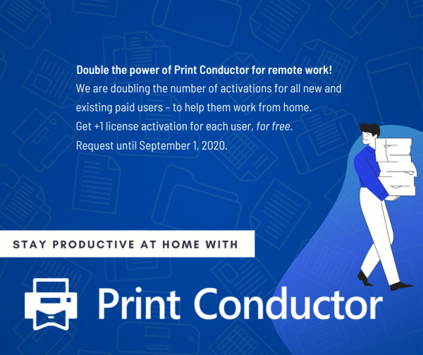Get free additional license activations for Print Conductor