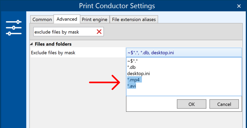 Exclude unsupported file types from processing