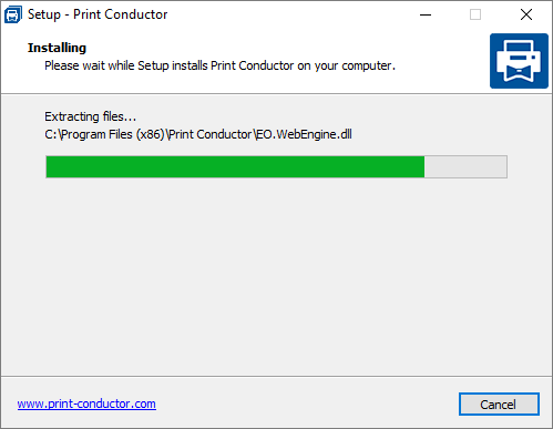 Installing Print Conductor automatically
