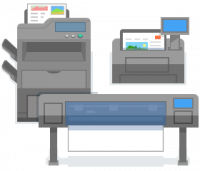 Office printers and plotter icon