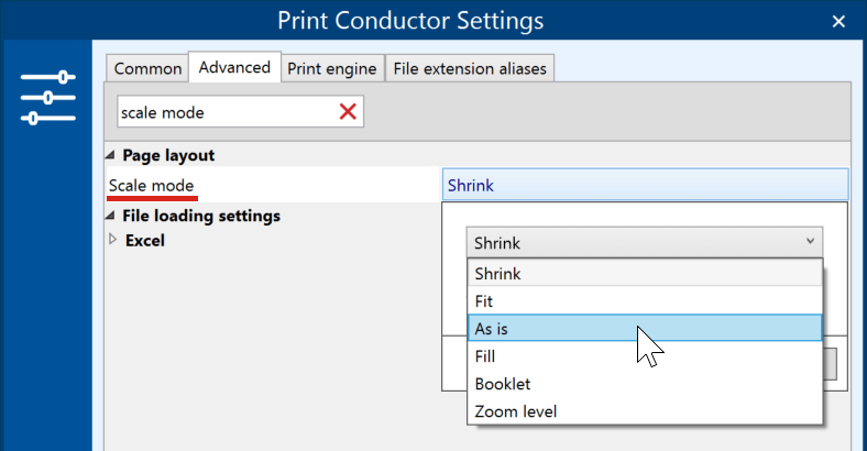 Batch print PDFs in actual size