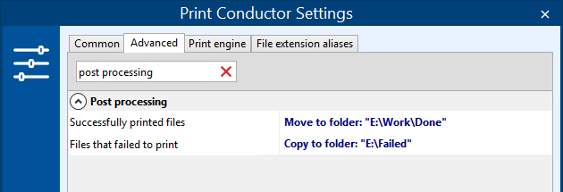 Move, copy or delete files after a batch print job
