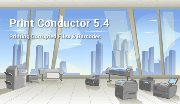 Print barcodes & corrupted PDF, MSG and XLS files with Print Conductor 5.4