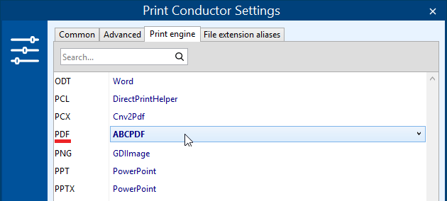 PDF print engine for text vectorized into curves