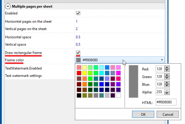 Add frame around pages in multiple-pages-per-sheet mode
