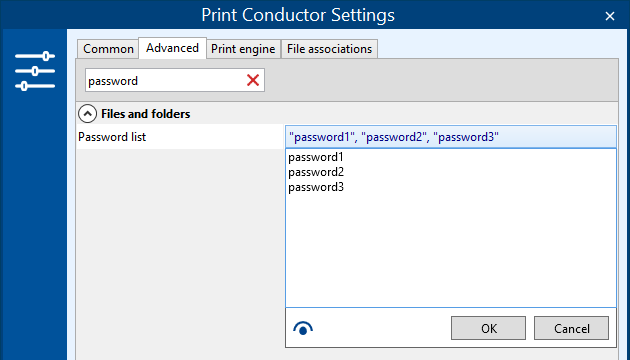 Print password-protected documents