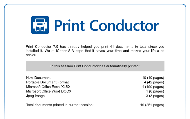 Print job completion report