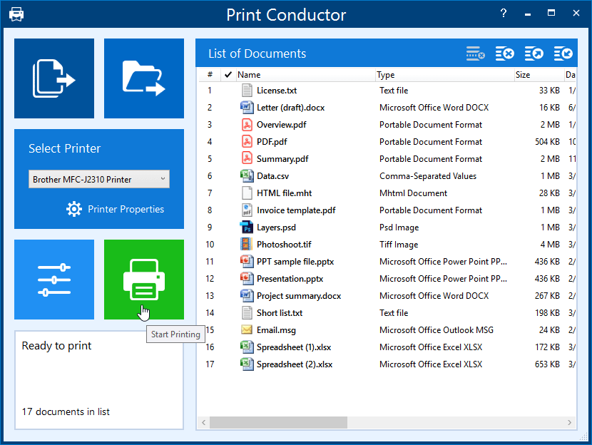 Print Conductor - bulk printing software