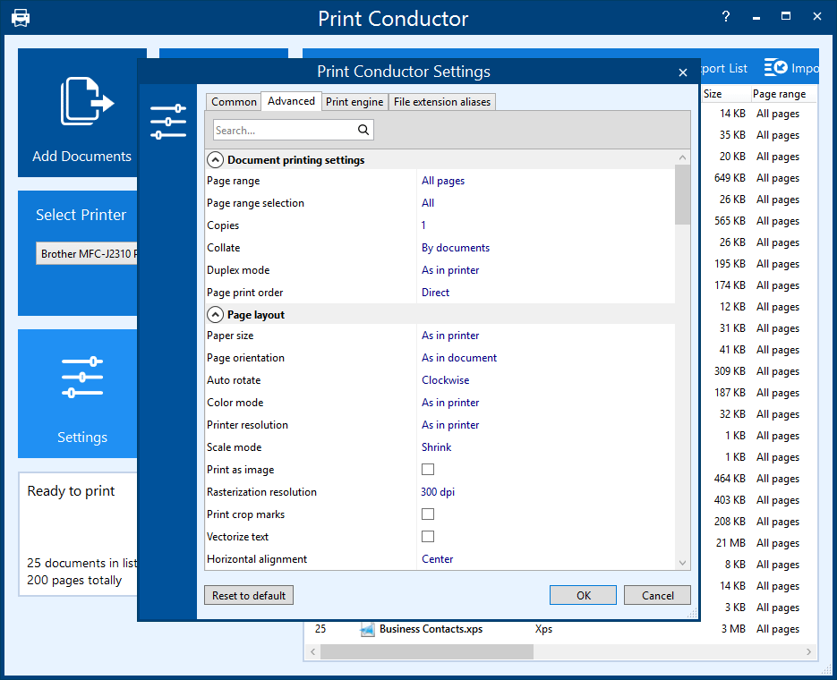 Print Conductor batch prints PDF, Word DOC, Excel XLS, AutuCAD DWG, images, etc