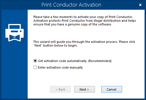 Print Conductor Activation