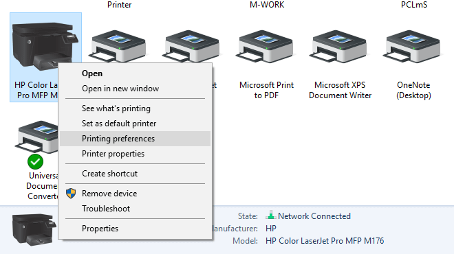 Saving or discarding changes to Printer Properties on exit
