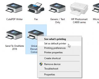 Set a printer as default in Windows