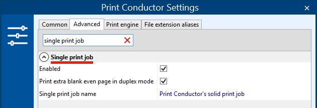 Print files as one print job