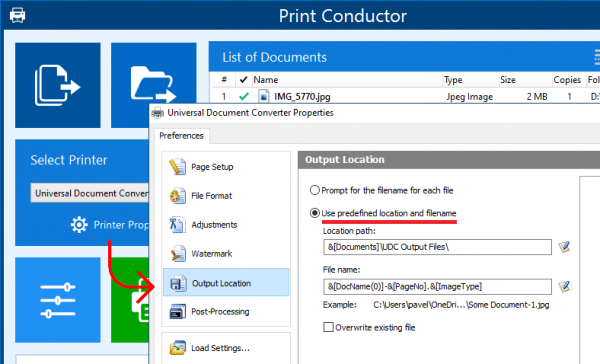 Mass convert to PDF without 'Save to' dialog prompts