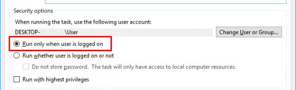 Działa tylko wtedy, gdy użytkownik jest zalogowany