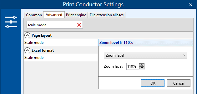 Custom page scaling feature in Print Conductor – Zoom level